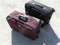(2) Travel Suitcases
