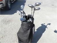 Set of Golf Clubs, Bag, Gloves, Balls