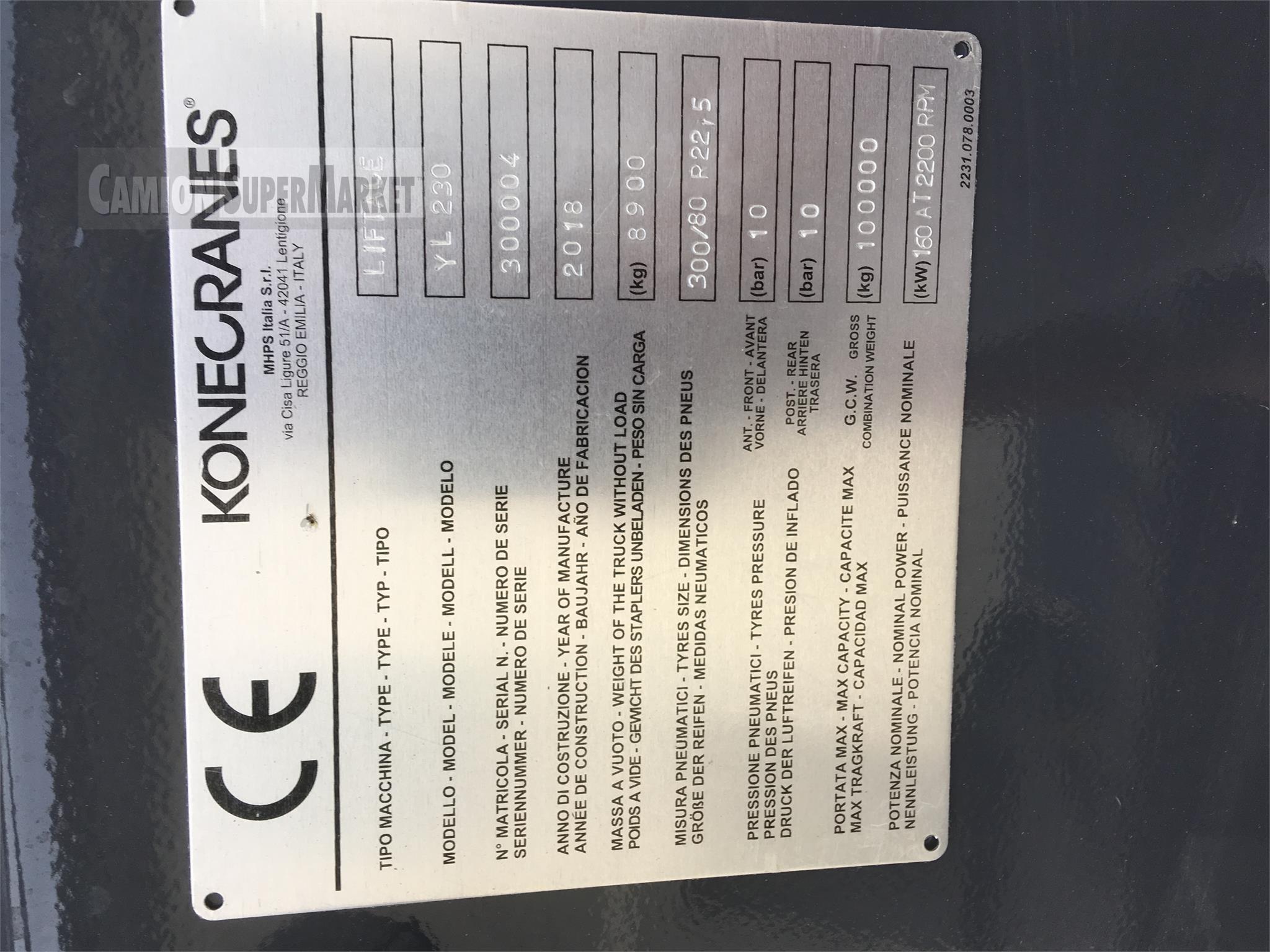 KONECRANES YL230 new 2018