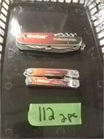 2 Sheffield Multi Tool Pocket Knives