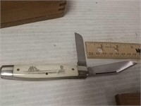 2 Schrade Scrimshaw 1870 Knives