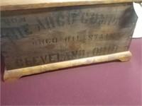 Arco Company, Cleveland Ohio Wooden Box