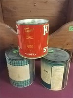 King Syrup, Dexo, Swiftining Vintage Cans