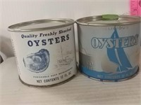 One 16 Oz And Two 12 Oz Oyster Cans