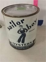 Sailor Boy Gallon Oyster Can