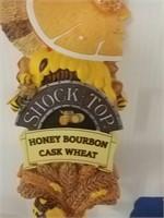 Shock Top Honey Bourbon Tap Handle
