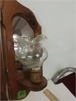 Hinged Candle Holder With Mirrors