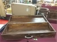 "Antique Wooden Box 39 1/2"" X 15 1/2"" X 8"""