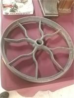 "Cast Iron Wheel 19 1/2"" Diameter"
