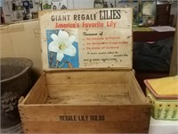 Vintage Lily Crate, Label Inside