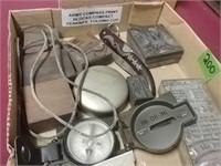Army Compass, Print Blocks ,Compact, Knife,