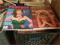 Milk Crate Vintage Playboy Magazines