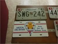 4 Vehicle Tags MD Milton Delaware Hot Air Balloon