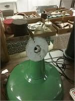 Vintage Porcelain Green Light Works 14 Inch