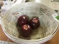 Happy Easter Basket 3 Apples