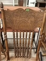 Vintage Wooden Rocker 1 spindle needs repaired