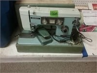 Dressmaker Deluxe Sewing Machine As Found