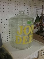 13 Inch John Deere Glass Canister