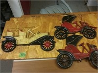 Metal Antique Cars Wall Hanging