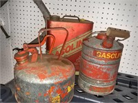 Metal Gas Cans 3pc