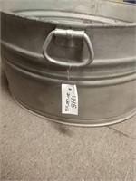 """Round Galvanized Wash Tub 20"""" X 20"""" x 12"""""""