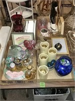 Glassware, Home Decor Lot