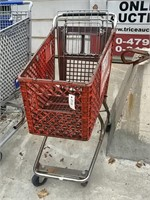 Small Red Plastic Shopping Cart