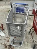 Gray Plastic Shopping Cart