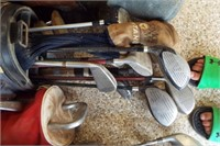 MISC. MENS AND WOMENS GOLF CLUBS AND BALLS