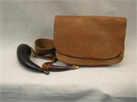 Powder Horn and Satchel-