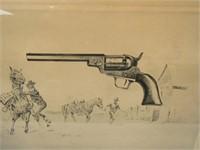 Colt Wells Fargo Model .31 cal - 1848 Print-