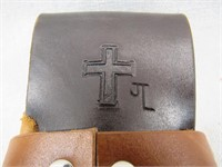 """Leather 6"""" Knife Holster-"""