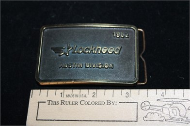 best place 100% quality classic fit 1982 LOCKHEED BELT BUCKLE AUSTIN DIVISION Other Items For Sale - 1 ...