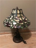 """Stained Glass Lamp 14"""" Tall (Works)"""