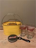 Budweiser Glasses, Coasters, Bottle Opener, etc.
