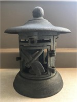"Cast Iron Candle Lantern 9"" Tall"