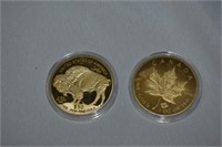 (2) Novelty Gold Toned Coins