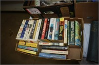 (4) Boxes of Assorted Items & Books