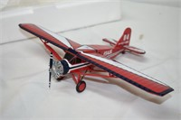 """Farm Safety Die Cast Airplane 8""""x12.5"""""""