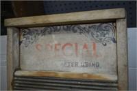 Wood & Metal Washboard