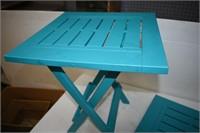 (2) Plastic Folding Patio Side Tables