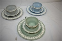 (3) Wedgewood Plate, Cup & Saucer Sets