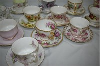 Group of Tea Cups & Saucers Includes Paragon