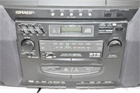 Sharp 5-Disc CD Player & Tape Player