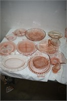 Group of Depression Glass Trays & Other Trays