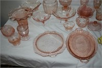 Group of Depression Glass, Plates, Trays, Bowls