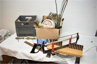 Milk Crate & Assorted Tools