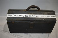 Vintage Toolbox with Sockets & Other Tools
