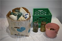 Vintage Irons, Insulators, Crown Jars, etc.