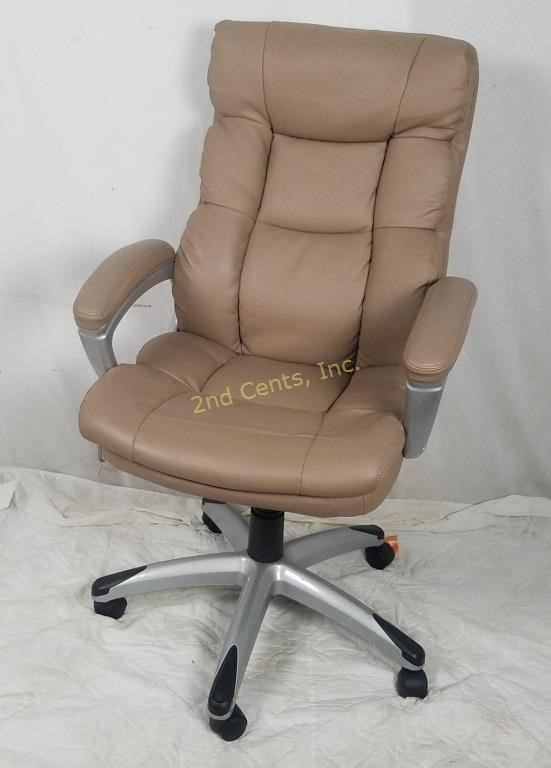 Super Tan Adjustable Rolling Office Chair 2Nd Cents Inc Caraccident5 Cool Chair Designs And Ideas Caraccident5Info